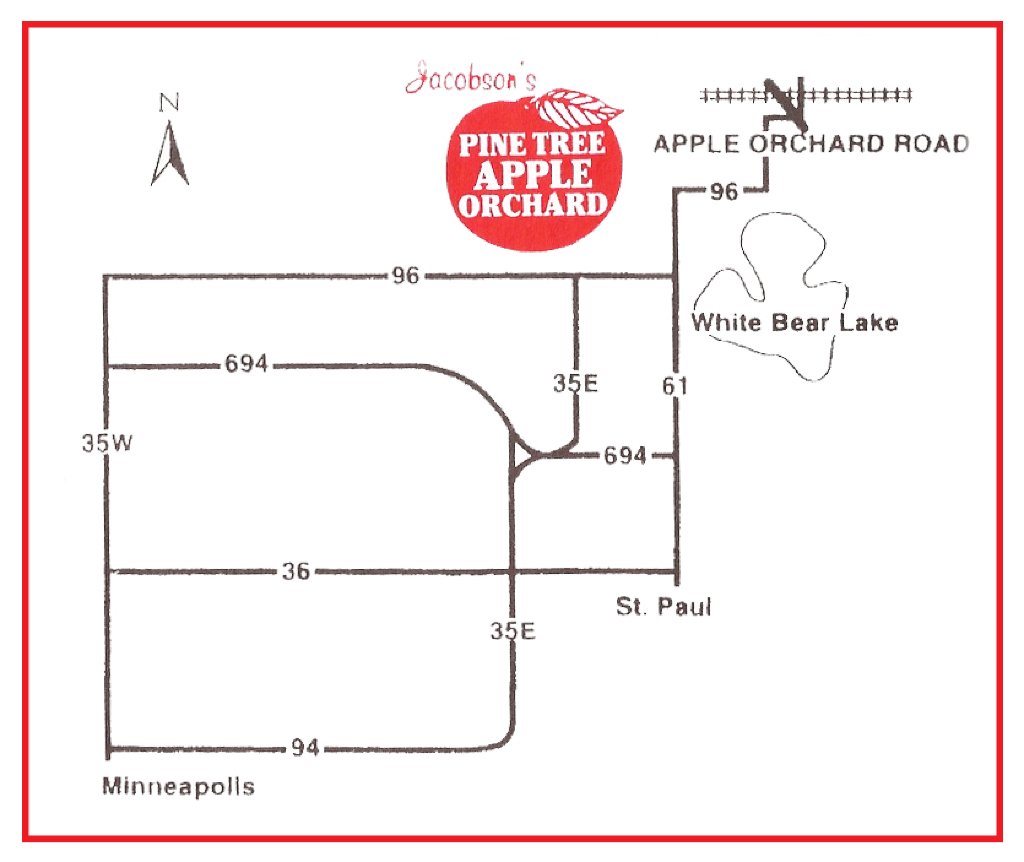Map of Pine Tree Apple Orchard