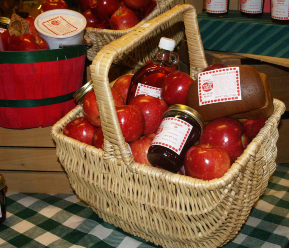 Holiday gift basket by Pine Tree Apple Orchard